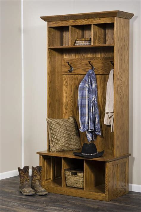 Glenwood Hall Tree Bench from DutchCrafters Amish Furniture
