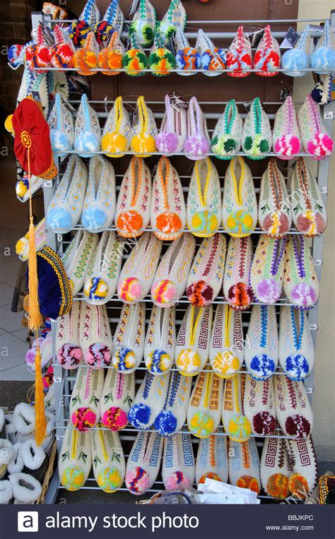 Traditional Greek souvenir slippers, Old Town, City of