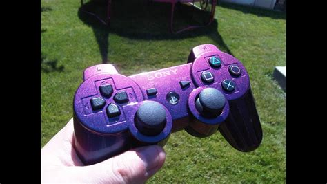 Colourshift painted PS3 controller - YouTube