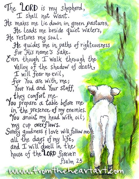 2016 Word of the Year – Prepare – Psalm 23 – in