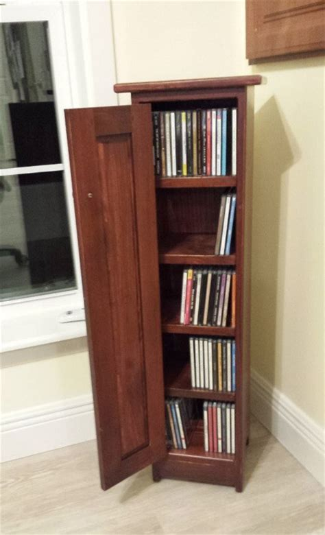 Pine CD Storage Cabinet from DutchCrafters Amish Furniture