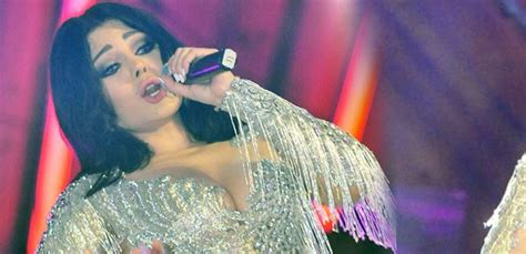 Haifa Wehbe wears her most daring dress yet at a concert