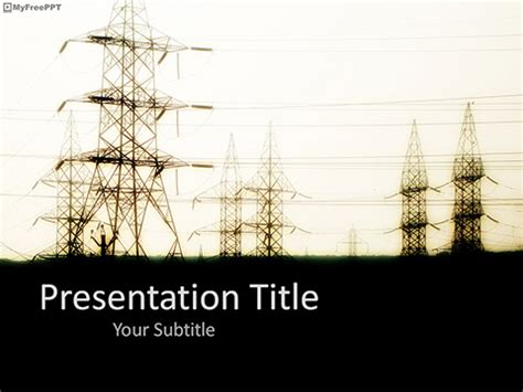 Free Power Grid Place PowerPoint Template - Download Free