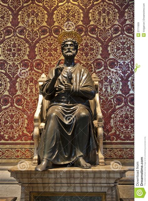 Saint Peter Statue In The Basilica Of Vatican Royalty Free