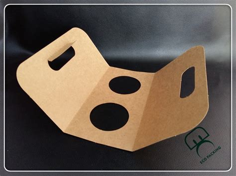 Flat packing cup holder paper bag coffee to go cup, View
