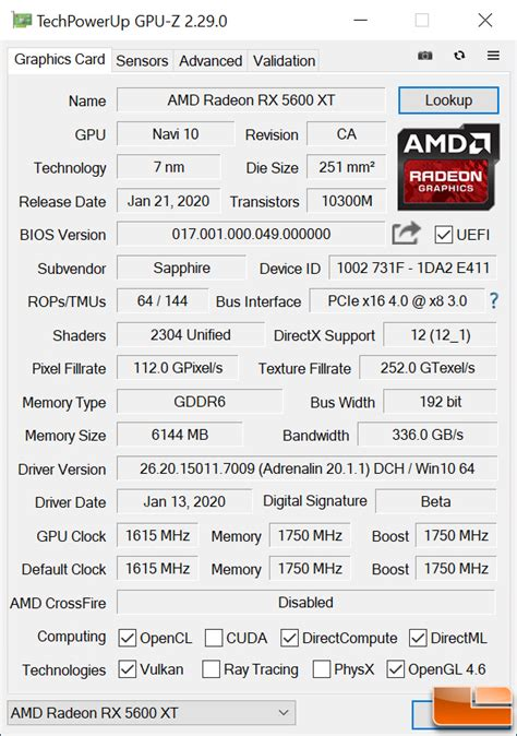 Sapphire Pulse Radeon RX 5600 XT 6GB OC Review - Page 2 of