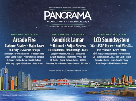 Panorama Music Festival Lineup Announced - Travel Hymns