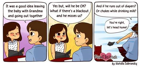 7 Honest Comics That Sum Up Date Night For Parents   HuffPost
