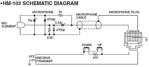 Wiring Diagram For Icom HM 103 Microphone Schematic   Antenas
