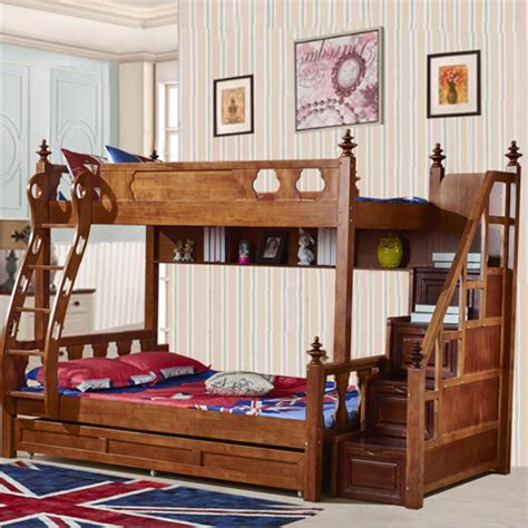 Webetop American Country Style Bunk Bed Mother & Son Bed