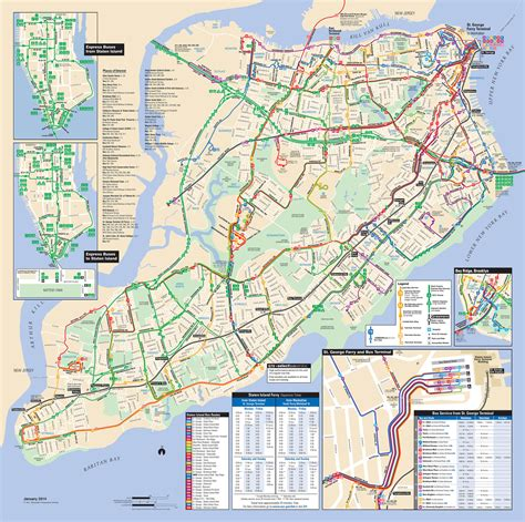 Map of NYC bus: stations & lines