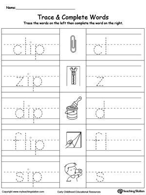 IP Word Family Trace and Write | Word families, Words