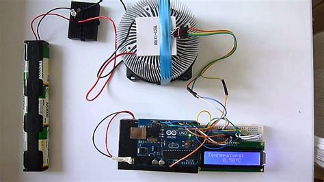 Peltier Thermoelectric Cooler TEC1-12706 Arduino - YouTube