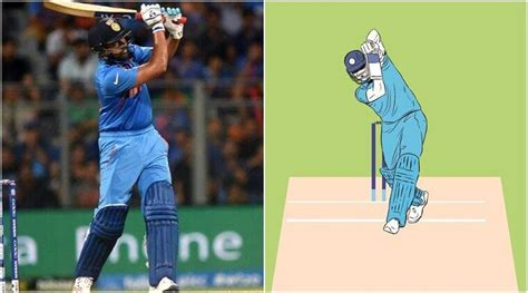 A thing of beauty: Rohit Sharma's lofted straight drive